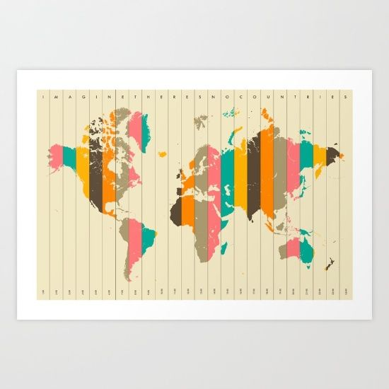 buy world map art print by jazzberry blue worldwide shipping available at society6com