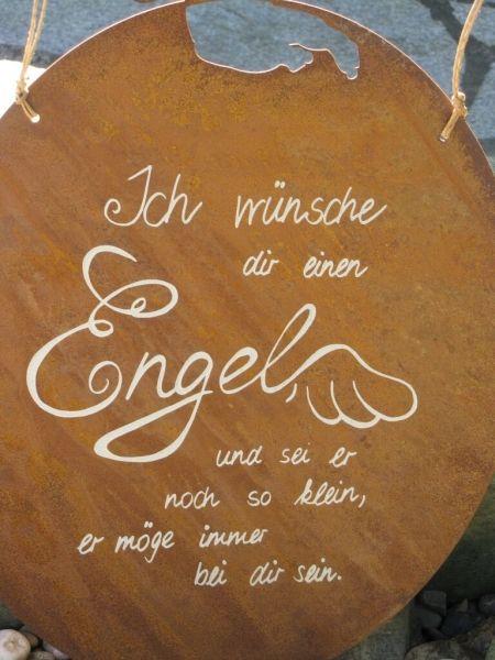 Edelrost Gedichttafel Engel Amore