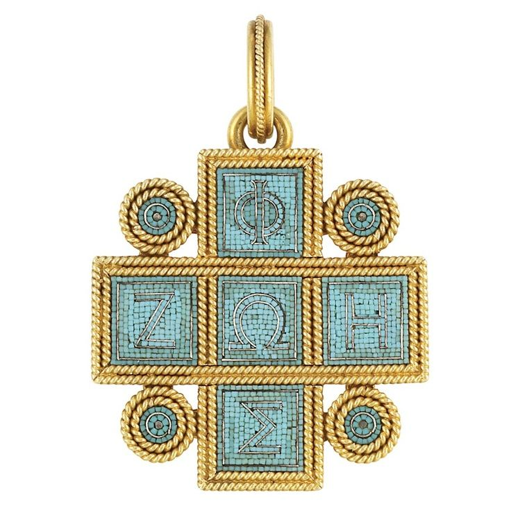 Micromosaic | Antique Gold and Turquoise Micromosaic ... | antique/ vintage jewelry