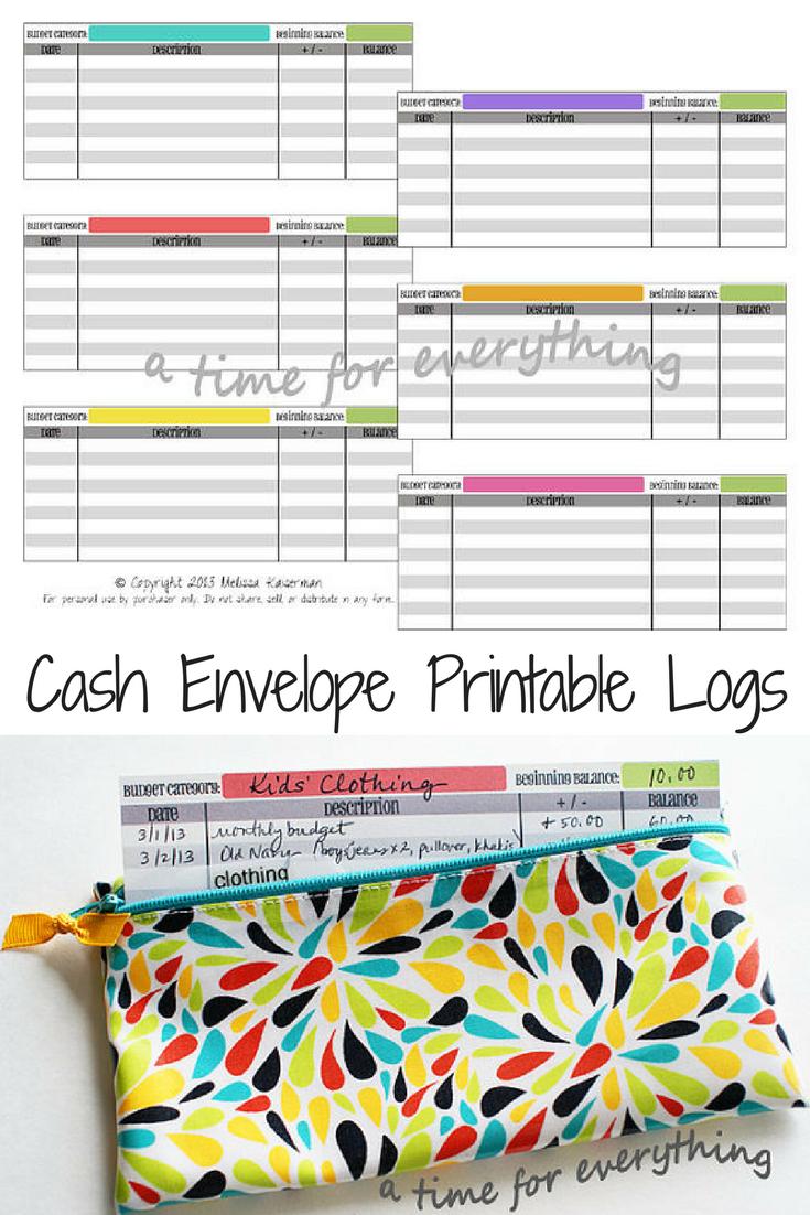 cash envelope printable logs ledger download makes the dave ramsey