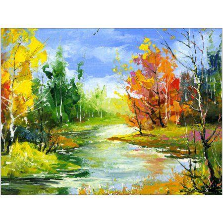 Autumn Landscape III Art by Eazl, Size: 16 x 12, White
