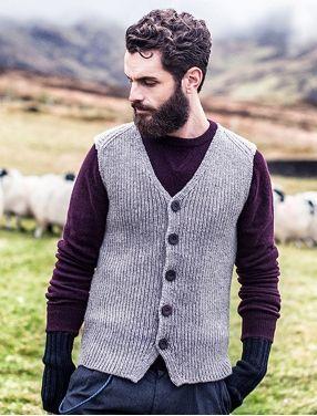 Mens Wool Sweaters Irish Fisherman Sweater Irish Sweaters Men Sweater Wool Sweater Men Mens Vest Fashion