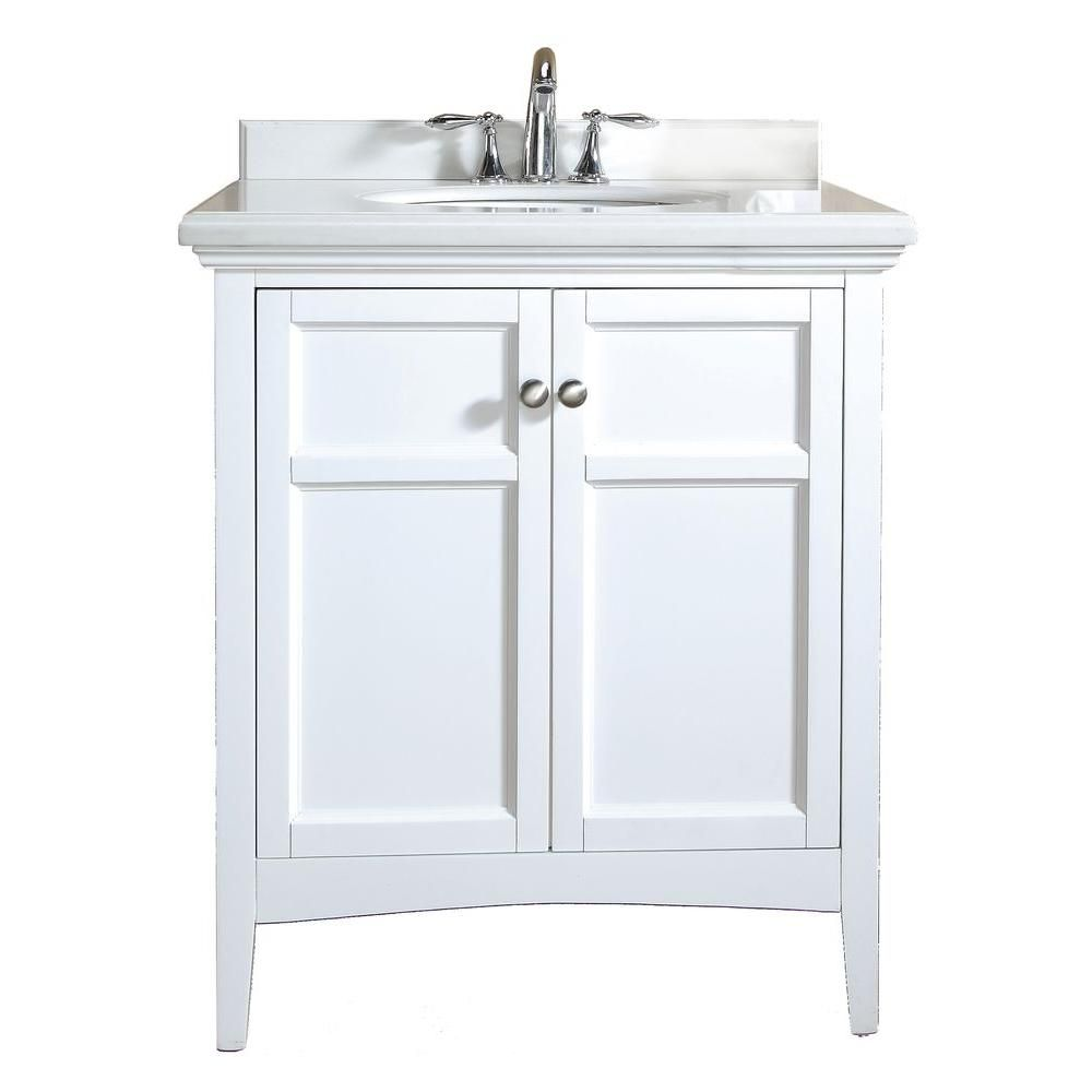 Ove Decors Campo 30 Invanity In White Lacquer With Granite New 30 Bathroom Vanity With Top 2018