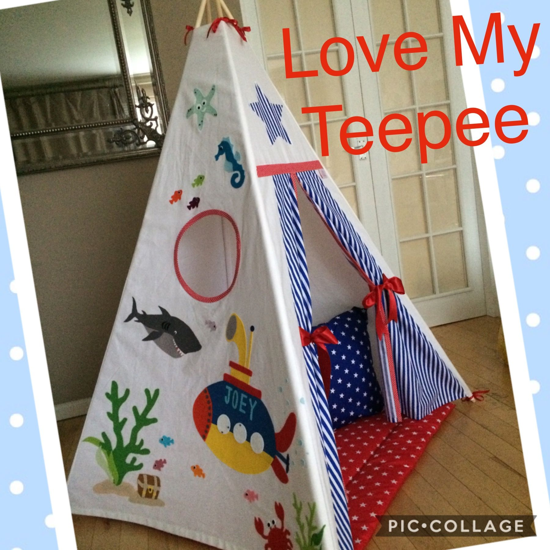 Love my teepee uku0027s leading handmade bespoke and personalised childrens teepee tents. Toys cushions play mats for boys and girls.  sc 1 st  Pinterest & Shark u0026 Submerine personalised teepee set | Peekaboo Teepees 0 ...