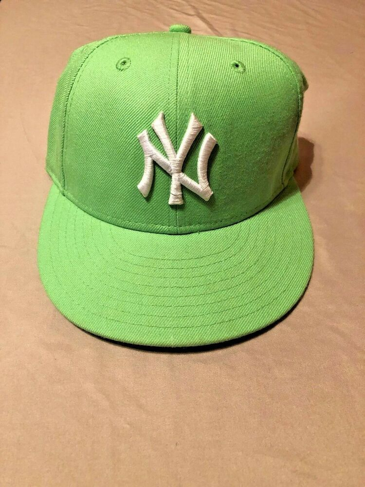 best service 2195e ea283 59fifty Lime Green NY Yankees Fitted Cap Size 7 MLB Genuine Merchandise   fashion  clothing  shoes  accessories  mensaccessories  hats (ebay link)