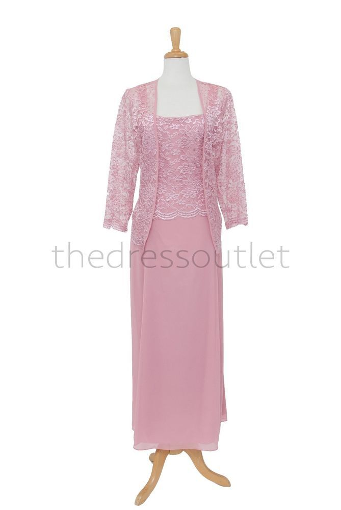 New Sleeveless Lace Mother Of Bride Dress Sheer Jacket Plus Size ...