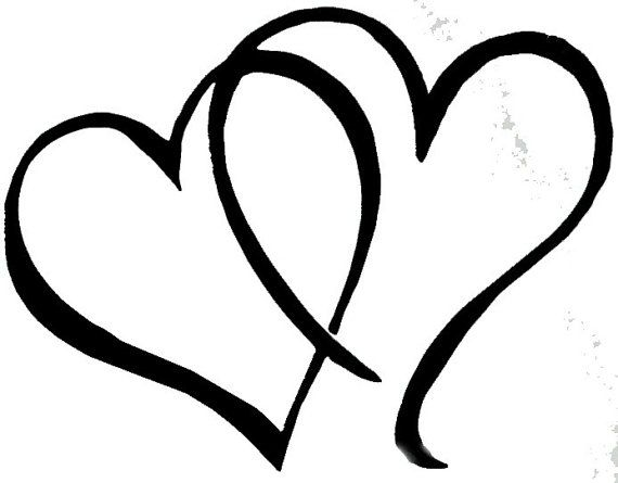 Double Entertwined Hearts Knit Graph By Yeoldballnskein On Etsy 3 50 Wedding Ring Drawing Heart Clip Art Heart Stencil