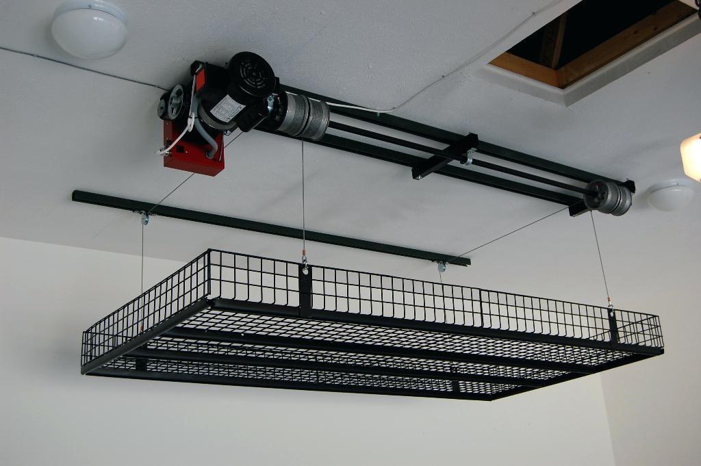 Garage storage lift system ideas unique posted above door