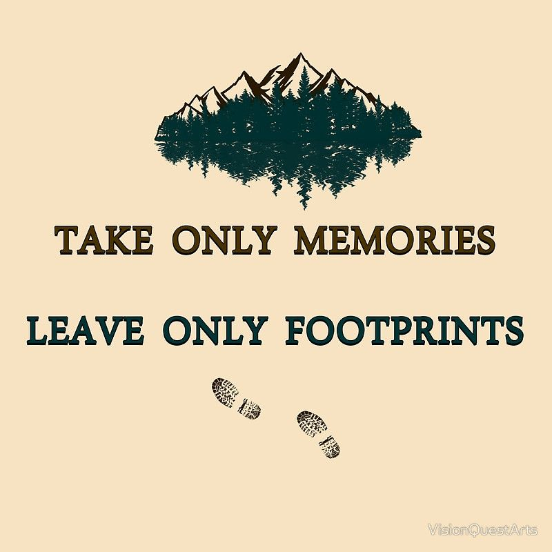 Take only memories leave only footprints quote leave