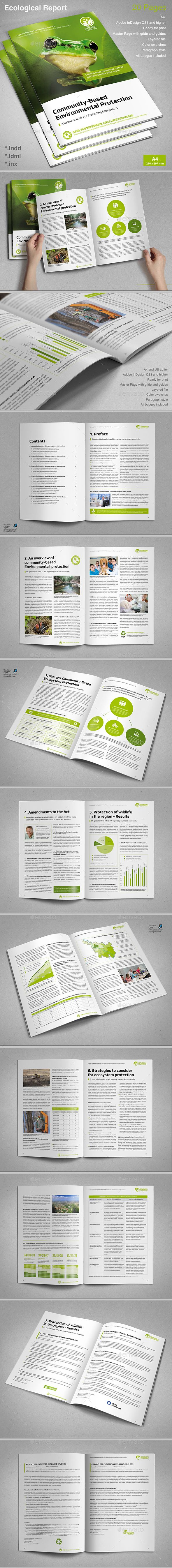 report ecological brochure template vector eps indesign indd design download httpgraphicrivernetitemreport ecological13548856refksioks