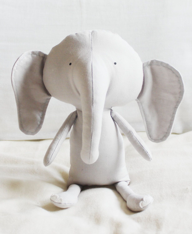 Elephant Sewing Pattern Softie Plush Toy Cloth Doll Pattern PDF ...