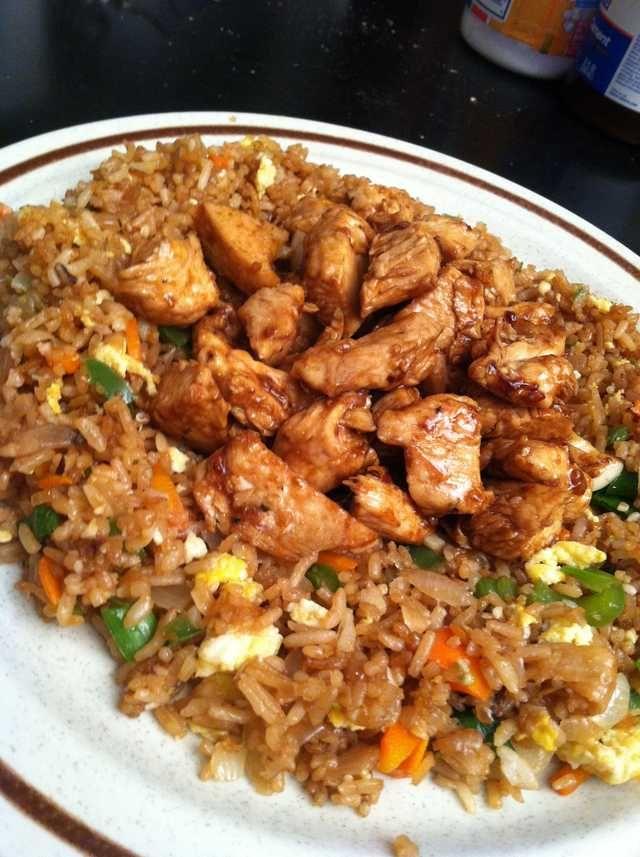 Fried rice and Teriyaki Chicken
