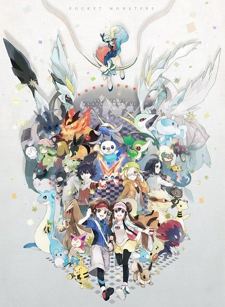 Pokemon Black And White Iphone Wallpaper