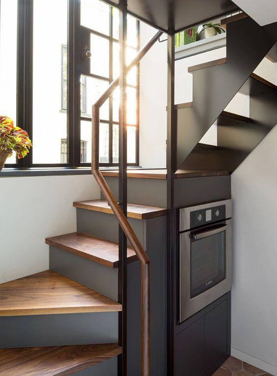 21 escaleras compactas y perfectas para casas peque as - Escaleras para casa ...