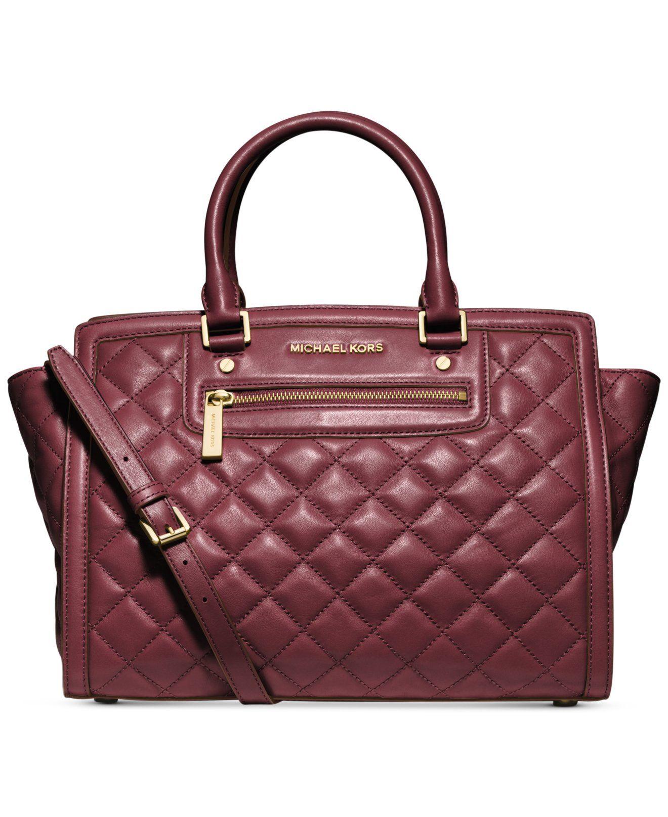 e6d50e8162362 MICHAEL Michael Kors Selma Zip Quilt Large Satchel - Michael Kors Handbags  - Handbags   Accessories - Macy s
