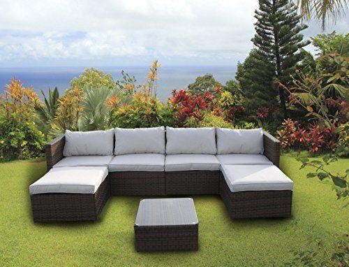 NEW Table Mobilier de jardin du0027extérieur en rotin Canapé du0027angle en - salon d angle de jardin