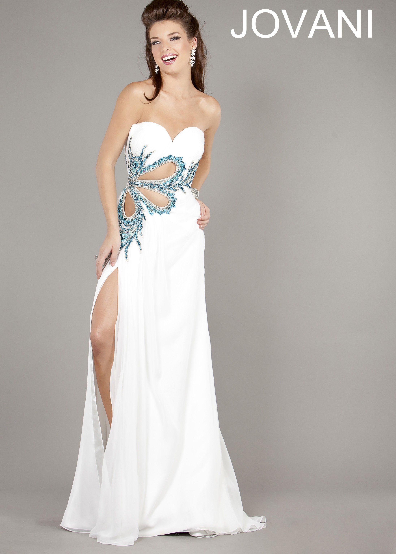 Long white sweetheart neckline dress