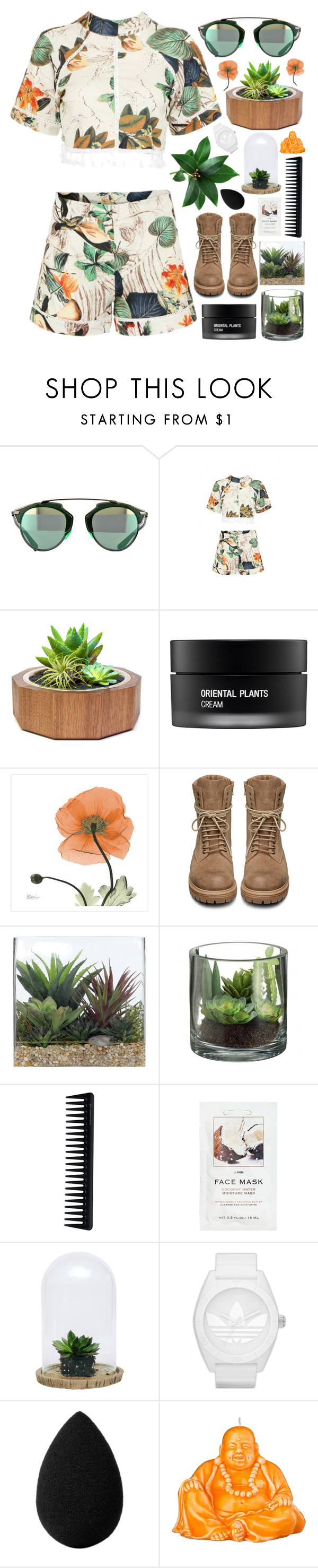 """No Body"" by akp123 ❤ liked on Polyvore featuring Dot & Bo, Koh Gen Do, Rick Owens, Lux-Art Silks, GHD, H&M, adidas Originals, beautyblender and Mario Luca Giusti"