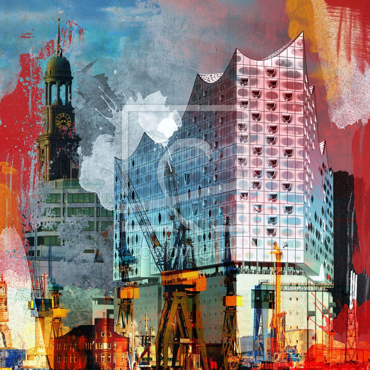 Elbphilharmonie Hamburg Variante Als Leinwand Von Erh Ltlich Bei Fine Art Print Hamburg Elbphilharmonie Abstrakt Bilder Hamburg Fotoleinwand