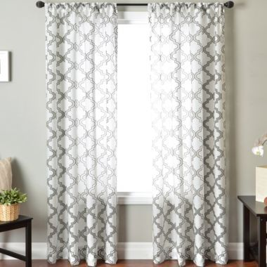 Princeton Rod Pocket Sheer Panel Found At Jcpenney 41 99 Like