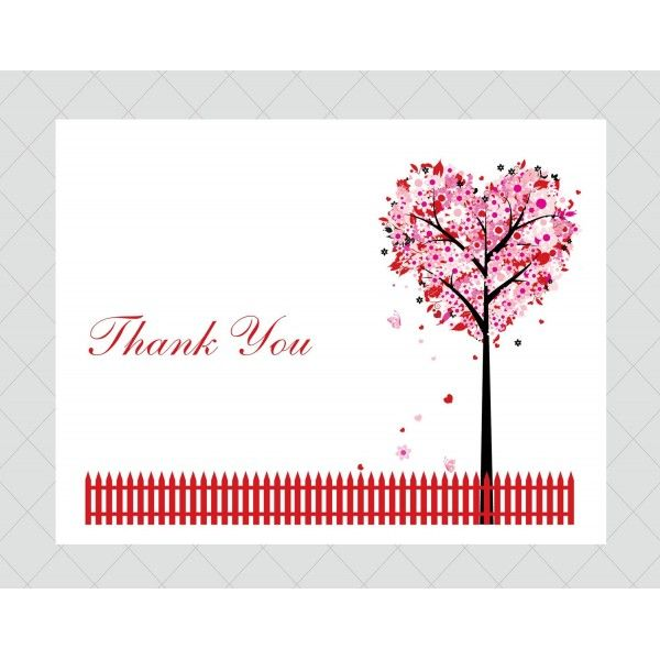 thankyou cards you can print   Heart Tree Thank You Cards ...