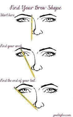 applying makeup –  Brow Tip. Eyebrow Shaping Tutorial Including Tips For Pluckin…