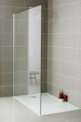 Plain Glass Wet Room Panels #wetrooms
