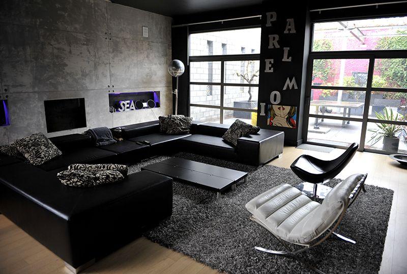 dark loft location pour photos tournages vnements en belgique - Salon Avec Canape Noir