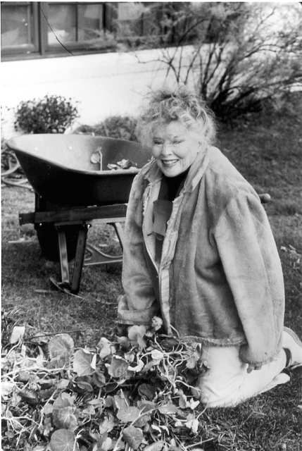 Katharine Hepburn at her estate, on the Fenwick waterfront near Old Saybrook, CT, where she had retired before dying in 2003 at age 96.
