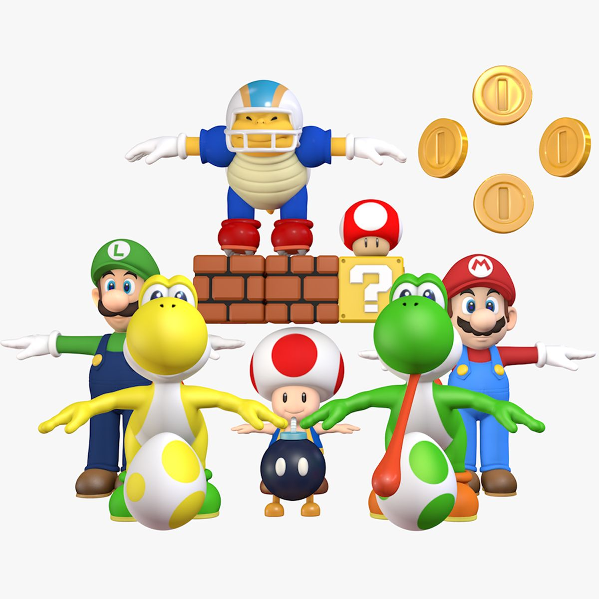 Mini Collection Pack Super Mario World Assets 3d Model Super Mario 3d Super Mario Super Mario World