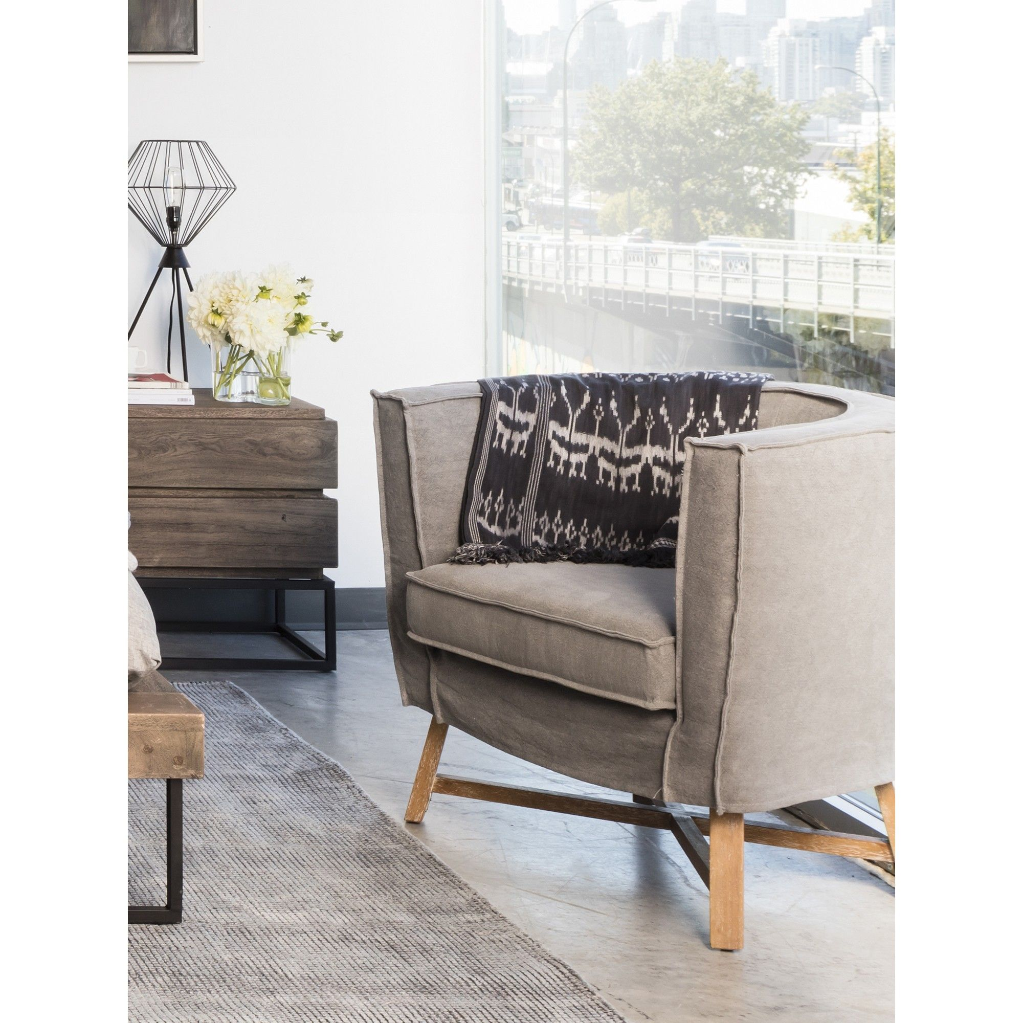 Grand Club Chair Light Gray In 2019 Living Room Furniture