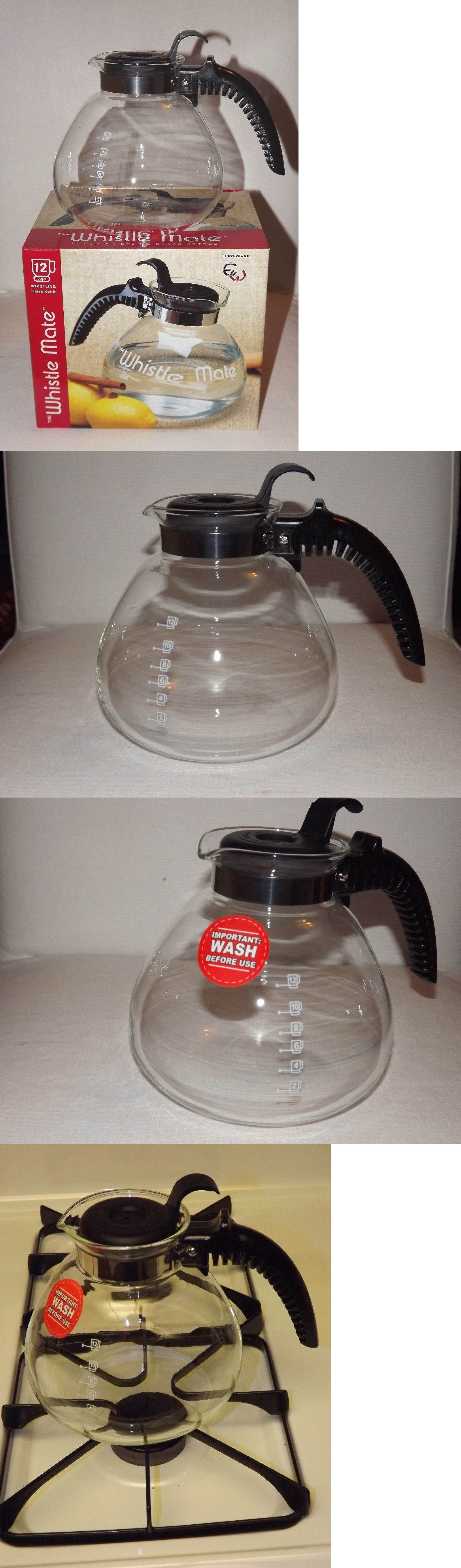 Teapots 115730 12 Cup 80oz Stovetop Glass Whistle Teapot Coffee Tea Kettle Pot Free Shipping Buy It Now Only 17 97 On Ebay Tea Kettle Tea Pots Kettle
