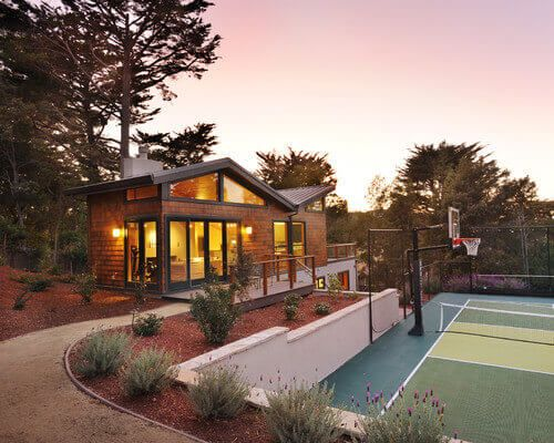 34 Spectacular Backyard Sports Court Ideas | Small Spaces, Spaces And Backyard  Sports