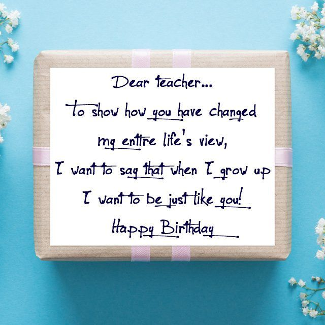 Birthday Wishes For Teacher From Students Wishes Pinterest