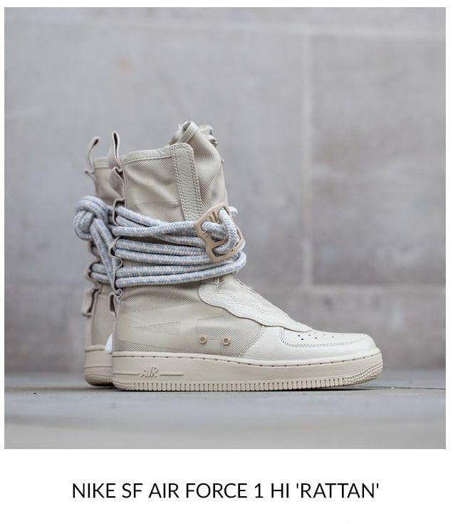 Nike Sf Air Force 1 High Rattan Sneakers Men Fashion Sneakers Fashion Sneaker Head