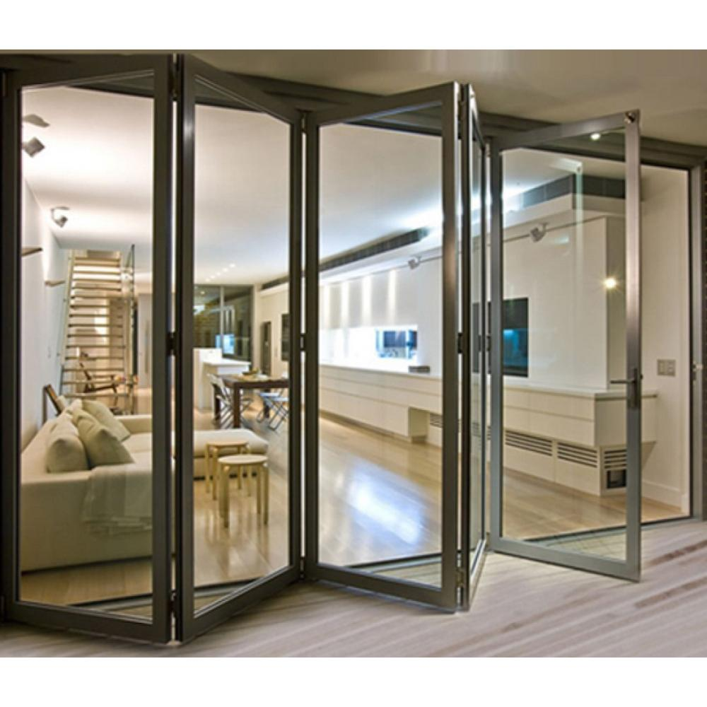 144 In X 81 In Right Swing Inswing Silver Finished Aluminum Prehung Bifold Patio Door With Aluminum Frame 10 In 2020 Bifold Patio Doors Sliding Glass Door Glass Door