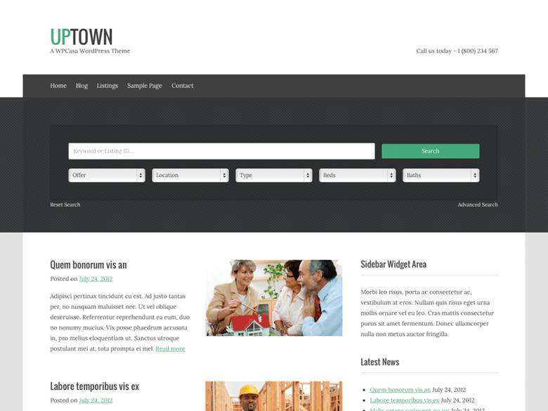upTown es un tema de blog personal simple y limpio para ser ...