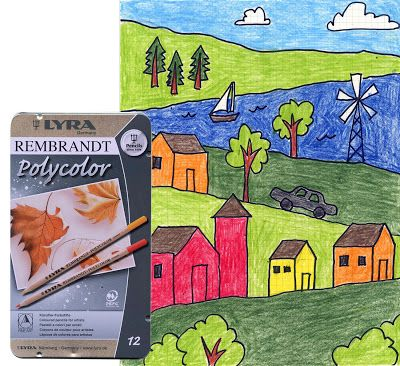 art projects for kids a hilly landscape use my free download grid paper