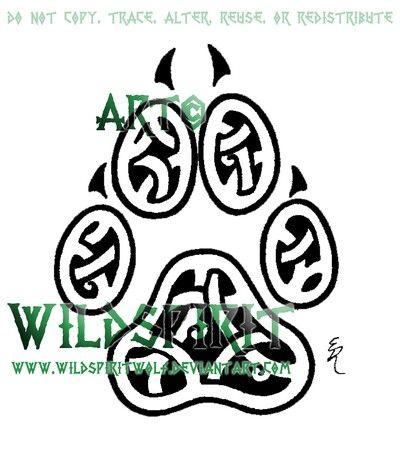 Celtic Knot Dog Paw print | Tattoo Designs | Tattoos ...