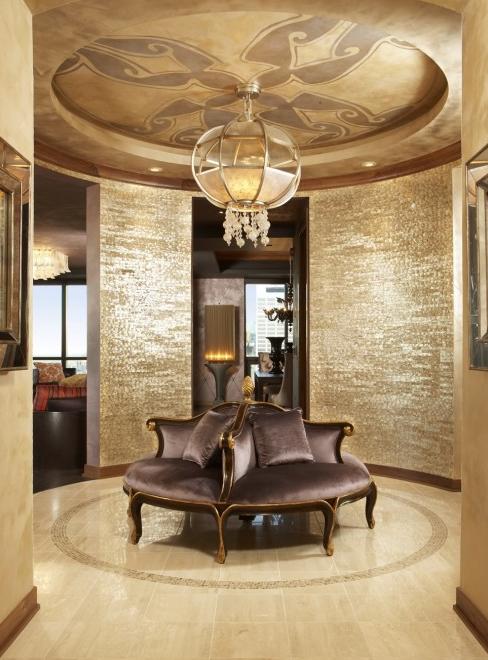 Amazing Entry Foyer!!! That Ceiling! That Circular Wall! That Wallpaper! WOWWIE!!!