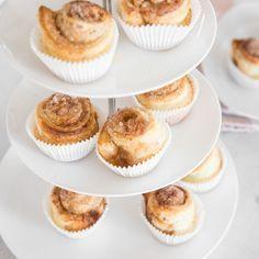 Kann der Tag besser beginnen, als mit einem warmen Muffin aus knusprigem Blätterteig - gefüllt mit orangiger Zimt-Zucker-Mischung? Ruck-zuck fertig!