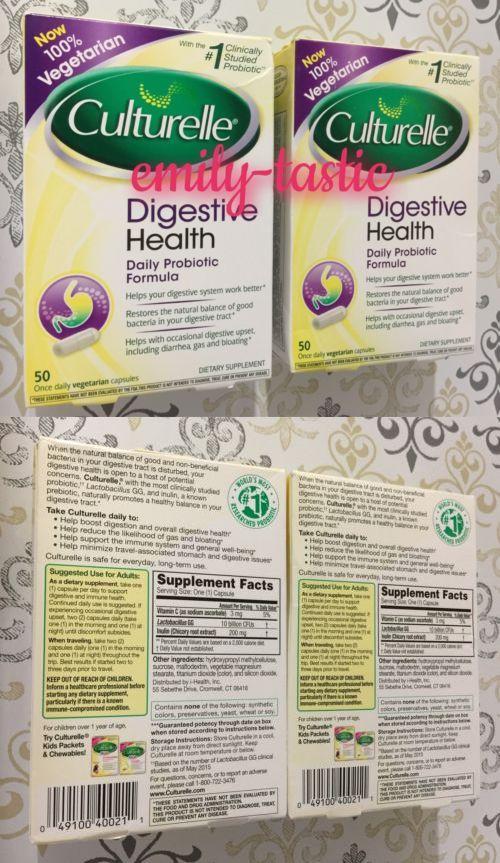 vitamins and minerals culturelle digestive health probiotic 2 x 50 capsules 80 20