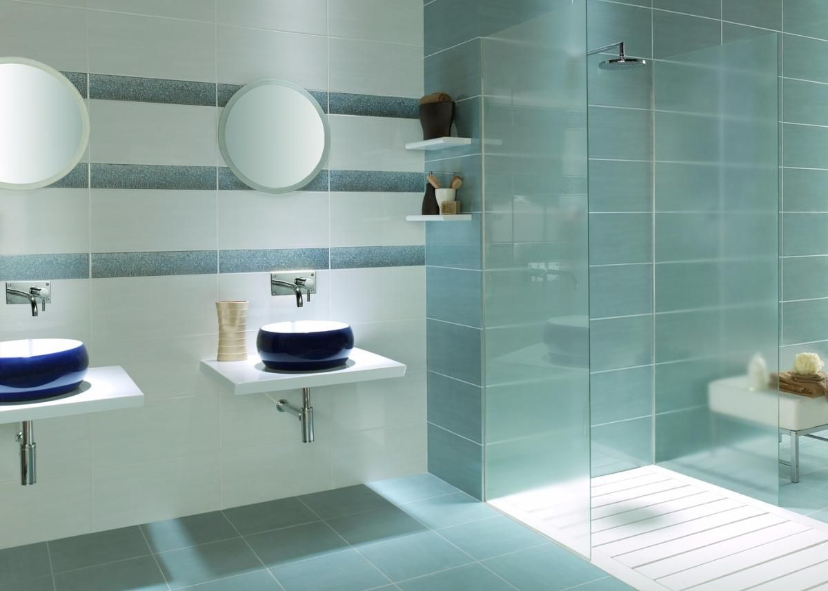 Fox Azul Wall Tile 25x50cm Tiles Ahead Contemporary Bathroom Tiles Bathroom Wall Tile Blue Bathroom Tile