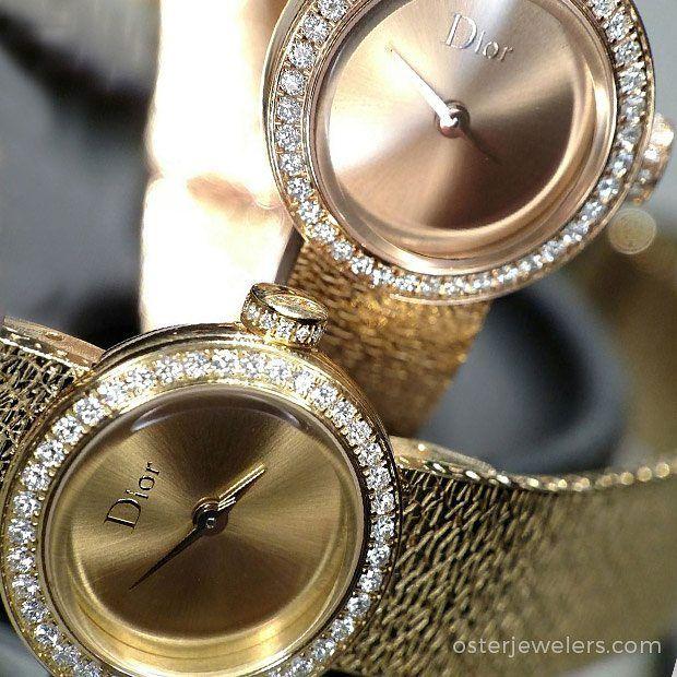 436b505ee La D de Dior Satine rose and yellow gold at #dior #diorwatches  #diamondwatches #hautecouture #mydiamondstyle