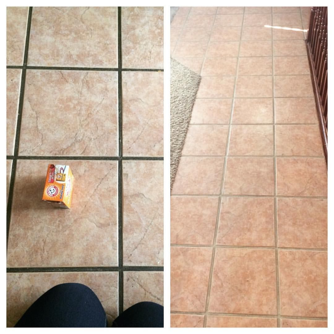 Like 1 2 C Baking Soda 1 4 C Hydrogen Peroxide 1 Tsp Dawn Dish Soap Scrub With A Toothbrush Then Mop Cleaning Tile Floors Grout Cleaner Tile Floor Cleaner