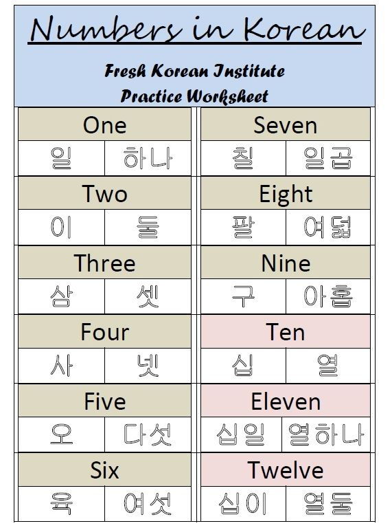 numbersinkoreanpracticewritingworksheet1jpg 571 768 – Hangul Worksheets