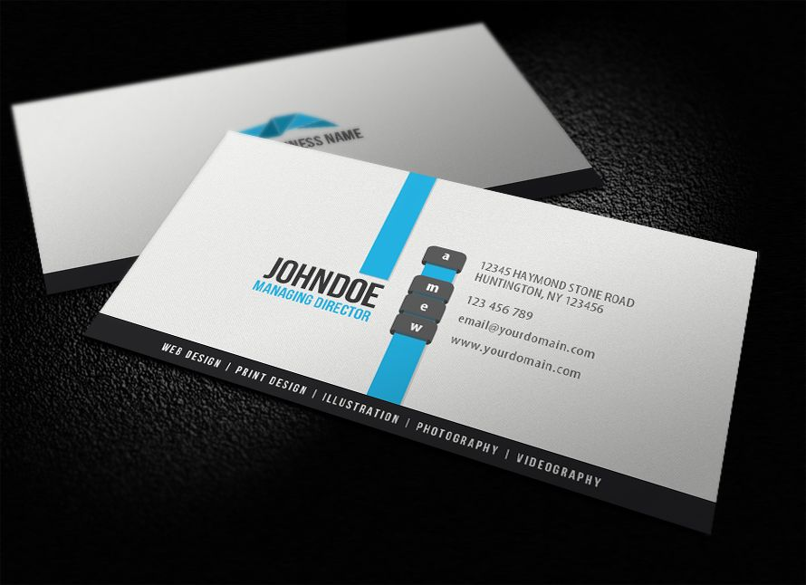 10 Cool Business Card Designs For Inspiration Business Card Design Graphic Design Business Card Name Card Design