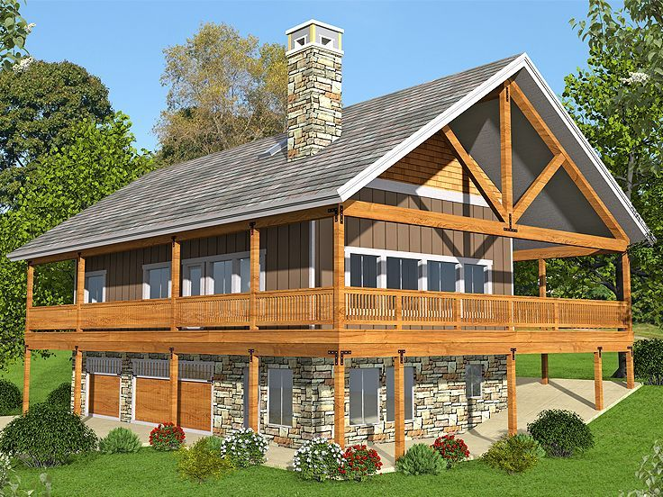 012g-0110: rustic carriage house plan with 3-car garage | carriage