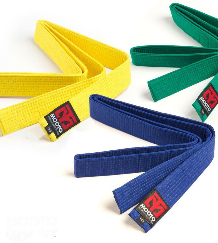 Mooto Color Belt 4cm Wide Single Wrap TKD Taekwondo Hapkido HKD MMA Martial Arts