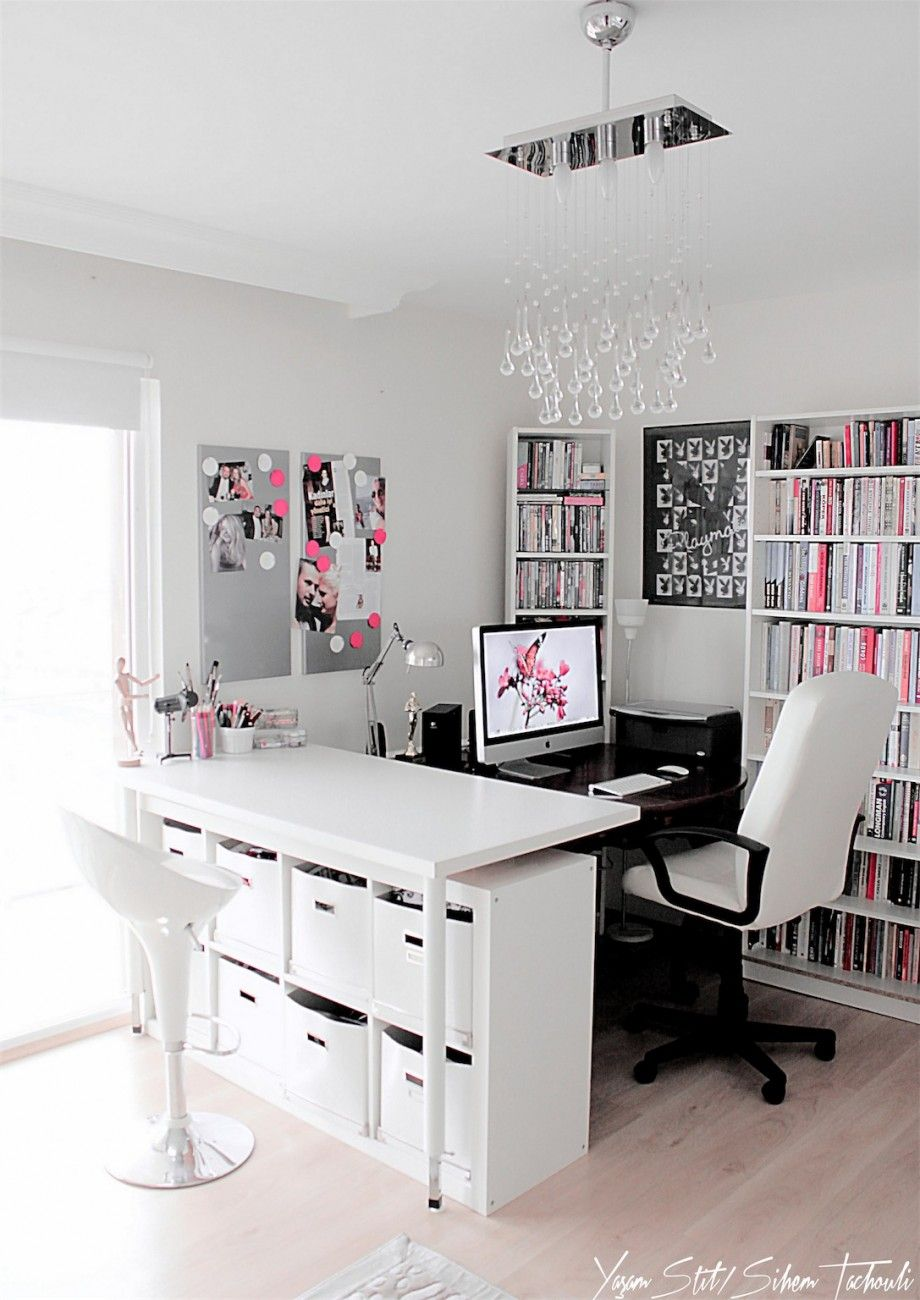 Things I Heart: Home Offices | Pink black, Gray and Gray color